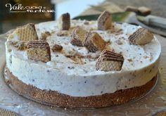 Torta fredda ai wafer ricetta dolce senza cottura facilissima velocissima senza cottura e molto golosa, con base croccante di wafer e nutella