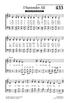 Baptist Hymnal 2008 433. All to Jesus I surrender - Hymnary.org