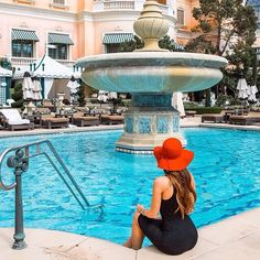 Hannah Stocking, Wearing A Hat, Summer Hairstyles, Fountain, Instagram Posts, Outdoor Decor, Ant, Sunlight, Silver