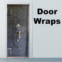 Refrigerator Wraps, Vintage Refrigerator, Diy Screen Door, Diy Door, Makeup Studio Decor, Safe Door, Vault Doors, Vinyl Doors, Door Murals