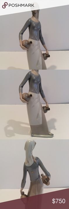 """NAO LLADRO """"Woman with water jugs"""" sculpture Vintage! NAO LLADRO """"Woman with water jugs"""" sculpture, statue, large, 16"""" high  In excellent condition. My grandmother kept it stored in a display case. Lladro Other"""