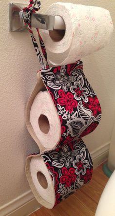 Toilet Roll Holder Diy, Loo Roll Holders, Toilet Paper Dispenser, Toilet Paper Storage, Towel Holder Bathroom, Paper Towel Holder, Bathroom Crafts, Bathroom Designs, Butterfly Bathroom