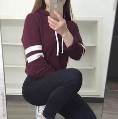 Loose long-sleeved hooded sweater