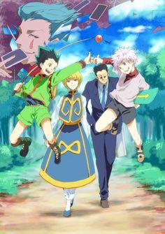 Hisoka, Gon, Kurapika, Killua, and Leorio         ~Hunter X Hunter