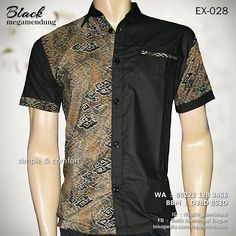 batik kombinasi kain polos rajapadmi batik kemeja batik pria