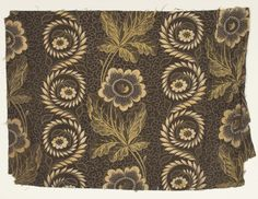 Creator (Role):  Samuel Matley & Son Place of Origin: Mottram, Cheshire, England, United Kingdom, Europe Date:  1824-1824 Materials: Cotton Techniques: Woven (plain), Discharge style, Roller printed, Block printed