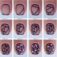 Stain glass nail art tutorial