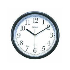 "ADVANCE CLOCK CO. 10"" Wall Clock [Black] Advance Clock"