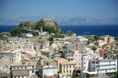 Corfu Town & Ionian Sea in the background. One of my favourite places on earth. Corfu Holidays, Global Holidays, Corfu Town, Corfu Island, Greece Holiday, Greece Travel, Greek Islands, Places To Travel, Travel