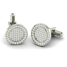 Select Gifts Sterling 925 Solid Silver Barrel Shaped Diamond Cufflinks Engraved Box