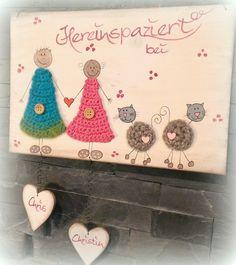 Türschilder   KIDO Shop Craft Business, Love Crochet, Lettering, Knitting, Diy, Crafts, Inspiration, Shop, Home Decor