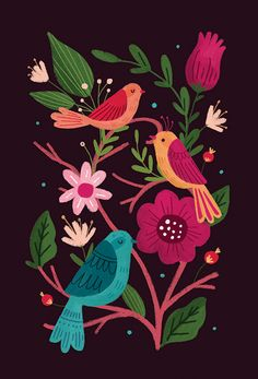 Ознакомьтесь с этим проектом @Behance: «Birds and Butterflies Folk Art» https://www.behance.net/gallery/31394869/Birds-and-Butterflies-Folk-Art