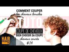 Comment couper les cheveux ondules (crepus, frises) HAIR France TV - YouTube