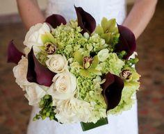 Pretty Bouquet...love the dark calla lilies!