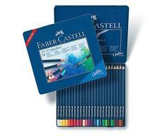 Amazon.com : Faber-Castell Art GRIP Aquarelle Watercolor Pencils, tin of 24 : Artists Pens : Office Products