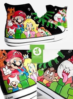 Super Mario Shoes by ~Bobsmade on deviantART
