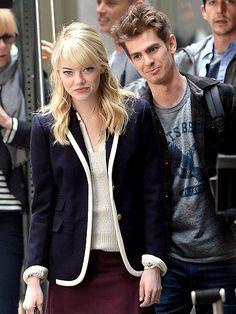 sooo cute <3 Andrew Garfield and Emma Stone