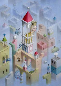Nicoletta Ceccoli, The Riddle Princess - Sweet & Low Exhibition