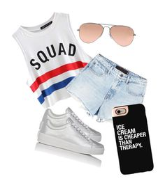 """""""#squadgoals"""" by yantbella ❤ liked on Polyvore featuring Chicnova Fashion, Alexander Wang, Prada Sport, Ray-Ban and Casetify"""