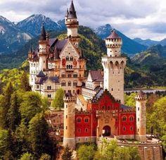 Neuschwanstein Castle (169 pieces)