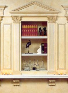 traditional pediment for door