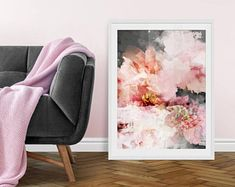 Floral Art Print. Floral Print. Floral Art. Flower Print. Floral Painting. Pink Print. Watercolours. Wall Art. Gift.