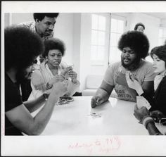 Black Students Center, students playing cards.  :: Ohio University Archives