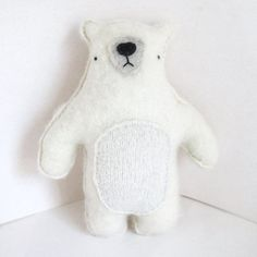 Big Ivory White Polar Bear Recycled Cashmere Sweater by sighfoo The Bear Family, White Polar Bear, Ivory White, Crochet For Kids, Plushies, Cashmere Sweaters, Fun Facts, Dinosaur Stuffed Animal, Etsy Seller