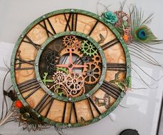 Beautiful Steampunk Debutante clock by @Melanie Forbes! Amazing stuff #graphic45 #steampunk