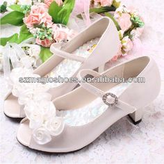 High Heel Shoes for Children with Flower $6.00~$8.50