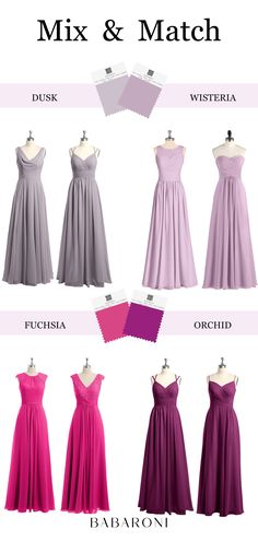 Melissa is our new style with a invisible collar. The transparent design on the back makes the dress more mysterious. Come and visit babaroni.com, choose from 66+ colors & 500+ styles. #bridesmaiddresses#wedding#babaroni #weddingideas