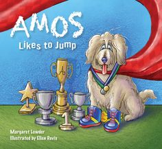 2011 Alumna Ellen Davis and current employee at the College of Veterinary Medicine illustrated the book and cover for Amos Likes to Jump, the first in the series of Amos Tales. This book teaches young ones the value of individuality, and why being you is the best way to be.