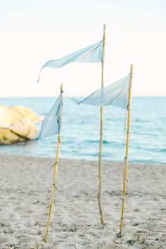 This fine art styled shoot by Anny Dmitrieva Photography features some stunning watercolour stationery, blue silk ribbon and an amazing dress Nautical Wedding Inspiration, Wedding Venues Beach, Beach Watercolor, Sandy Beaches, Event Styling, Event Decor, Driftwood, Flags, Fashion Art