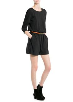 Short modal-blend jumpsuit