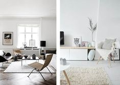 Hochwertig Minimalistisch Einrichten Wanddeko Sessel Wohnzimmer Ideen