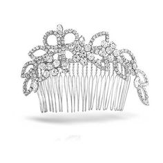 Bling Jewelry Laurel Leaves Rhinestone Bridal Tiara Hair Comb Gatsby... ($21) ❤ liked on Polyvore featuring accessories, hair accessories, jewelry, clear, casting crowns, rhinestone crown, rhinestone tiara, prom hair combs and jeweled hair combs