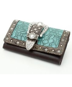 Leather Tooling, Tooled Leather, Cute Wallets, Silver Bangles, Purse Wallet, Crocodile, Bag Accessories, Purses And Bags, Turquoise