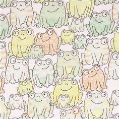 white frog animal fabric Timeless Treasures - Animal Fabric - Fabric - kawaii shop modeS4u
