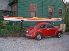 Two of my future modes of transportation: Kayak, check. Volkswagon, working on it :)