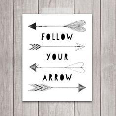 70% OFF SALE - Follow Your Arrow Print - 8x10 Printable Art, Tribal Arrow, Printable Nursery, Nursery Decor, Inspirational Print by DreamBigPrintables on Etsy https://www.etsy.com/listing/212454124/70-off-sale-follow-your-arrow-print-8x10