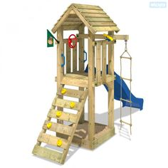 Enchant your children with a Wickey climbing frame for happy outdoor moments ☀ Slide ✓ Swing ✓ Sandpit ✓ warranty Kids Indoor Playhouse, Kids Outdoor Play, Outdoor Play Spaces, Build A Playhouse, Kids Play Area, Kids Backyard Playground, Backyard Playset, Backyard For Kids, Backyard Fort