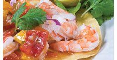 Rum-Glazed Shrimp w/Charred Sweet Corn & Coconut Relish #nationalrumday