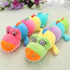 Super Cute Big Size Toys Animal Stuffe Plush Toys 31 Inch Kids Toys for Children High Quality Pp Cotton Birthday Christmas New Year Valentines Day Toy  Creative Color Crocodile Doll ** See this great product.