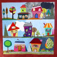 Quilt Art Designs: Wonky Houses 17/21