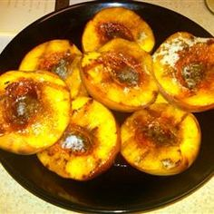 Sweet Grilled Peaches  Made them tonight with bbq'd lamb.    They would be really yummy over ice cream!