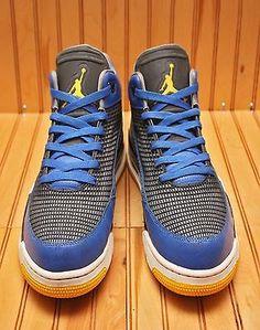 Nike Air Jordan Flight Club 80'S Size 12 - Royal Maize Cool Grey - 599583 489