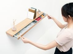 Torafu | Clopen: a shelf That can be used as a storage drawer