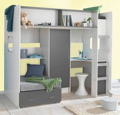 e4518ea2275 High Sleeper Loft Cabin bed colour options ideal childrens safe bed with  futon wardrobe and desk Rutland