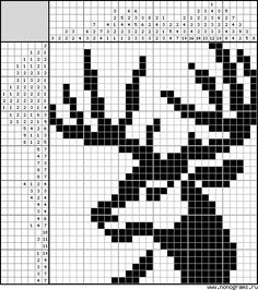 quilting like crazy Tapestry Crochet Patterns, Crotchet Patterns, Bead Loom Patterns, Beading Patterns, Cross Stitch Patterns, Embroidery Patterns, Hand Embroidery, Graph Crochet, Crochet Deer
