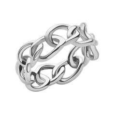 Women Rings, Signature Sterling Silver Band Ring